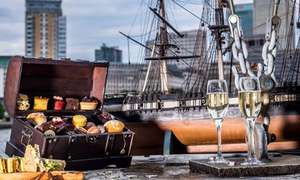 For Two: Pirate-themed Afternoon Tea with bottomless bubbly or rum punch at the Hilton Docklands Riverside Hotel £22.62 (£11.31pp) @ Groupon