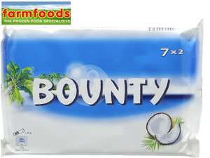 7 x 2 Bounty Coconut Milk Chocolate Bars only 99p at Farmfoods (Springburn)