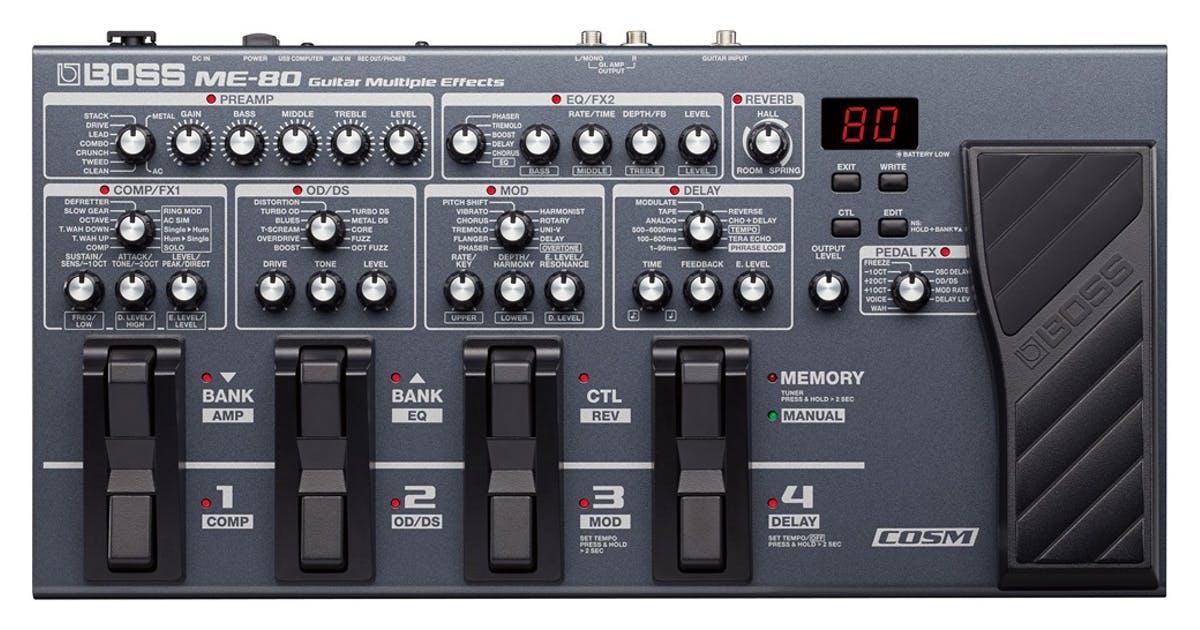 BOSS ME-80 Multi Guitar FX Processor £199 @ Andertons