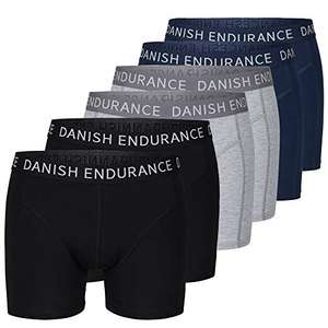DANISH ENDURANCE 6 Pack Men's Cotton Trunks - £24.98 ( non prime +£4.49) Sold by DANISH ENDURANCE UK and Fulfilled by Amazon