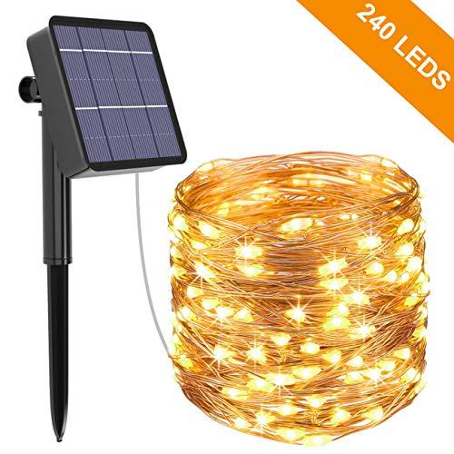 Kolpop Solar Fairy Lights Outdoor, 24m £10.98 (lightning deal + 15% voucher) (+£4.49 NP) Sold by Lanwind-EU and Fulfilled by Amazon.