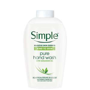 Simple Kind to Skin Pure Hand Wash Refill Pack No Pump 6 x 250ml £6 (Prime) + £4.49 (non Prime) at Amazon