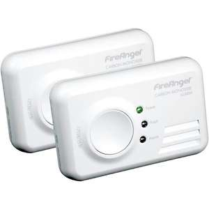 FireAngel carbon monoxide detector twin pack £9.69 at homebase Newtownabbey