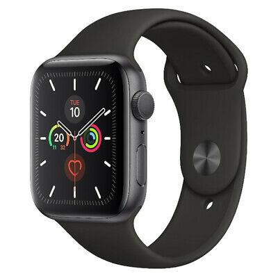 Refurbished Apple Watch Series 5 (Pristine Condition) Space Grey / Black Band £296.99 ebay / musicmagpie