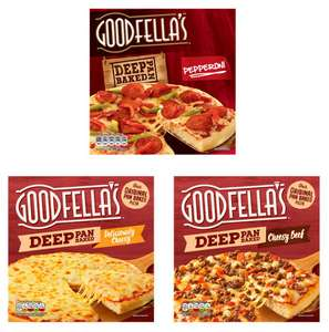 Goodfella's Deep Pan Baked Pepperoni / Deliciously Cheesy / Cheesy Beef Pizza 439g - £1.25 each @ Asda