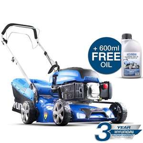 Hyundai HYM430SP 43cm 139cc self-propelled petrol lawn mower for £229 delivered @ Machine Mart