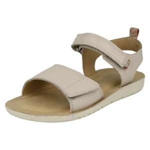BUZZ Taupe Leather Girls Riptape Sandals £11.70 delivered @ Start-Rite Shoes