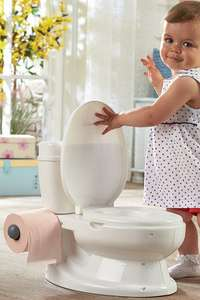 Toilet Shaped potty with toilet roll holder and flushing toilet sounds £19.99 (+10% off and free delivery new customers) @ Studio