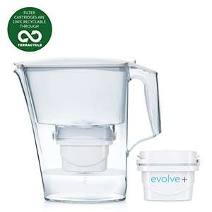 Aqua Optima Liscia 2.4 litres Water Jug with 1 Evolve Filter, £7.99 (+£2.48 non prime) at Amazon