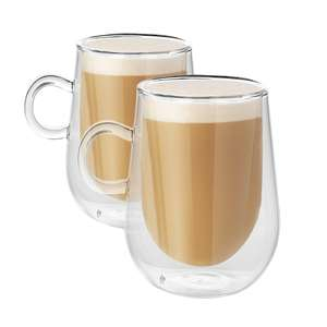 Set of 2 350ml Double Walled Coffee Glasses with Handles £7.99 (£2.95 P&P) @ Roov