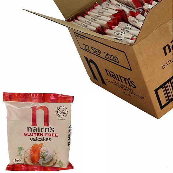 60 X Nairn's Gluten Free Oatcakes 18g Portions £5 @ Yankee Bundles - Best Before 22/09/2020