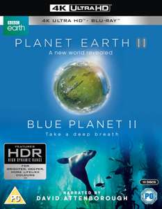 Planet Earth II & Blue Planet II Boxset - 4K Ultra HD + BLU-RAY - £23.98 Delivered With Code @ Zavvi (£21.99 for Red Carpet VIP)