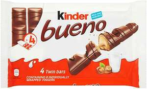 10 x 4 kinder bueno multipacks 40 x 43g (total 80 bars) £10.89 @ Amazon Prime Now (£15 minimum order, £3.99 fee applies under £40)