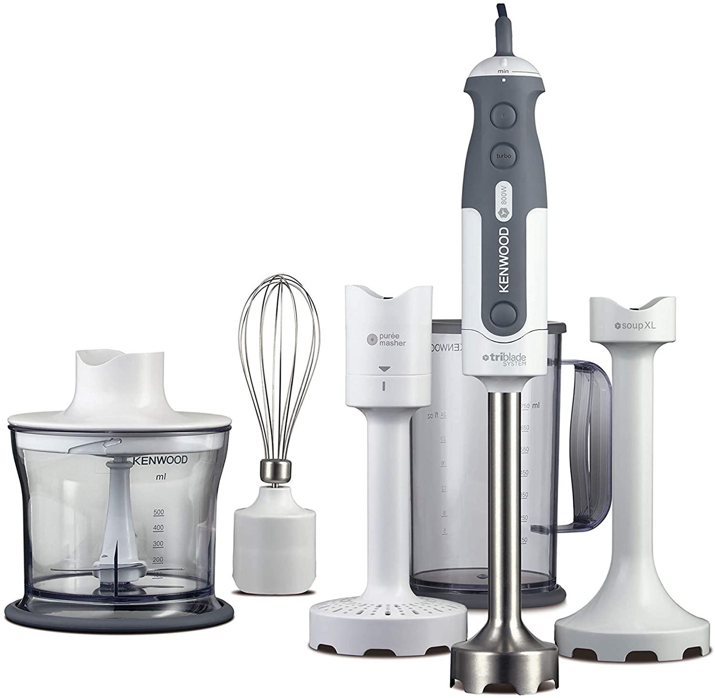 Kenwood Hand Blender, Anti-splash, Mixer includes 5 Attachments 800 W, HDP406, White Silver £59.99 Amazon