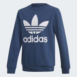 Kids Adidas Trefoil crew sweatshirt now £15.73 with code sizes 7-8 up to 11-12 Free delivery with creators club @ adidas