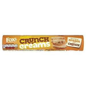 Fox's Golden Crunch Creams Biscuits 230g - 50p (+ £4.49 Non Prime) @ Amazon