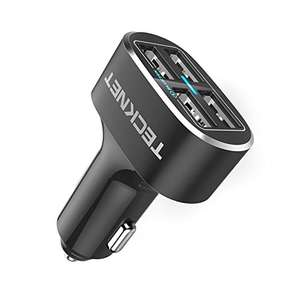 Tecknet 4 port USB car charger with free wireless charging pad £8.99 (Prime) / £13.48 (non Prime) Sold by BLUETREE and Fulfilled by Amazon