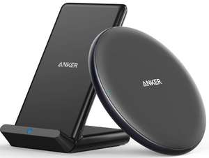 Anker Wireless Charger Bundle, PowerWave Pad & Stand 10W - £21.99 Sold by AnkerDirect and Fulfilled by Amazon