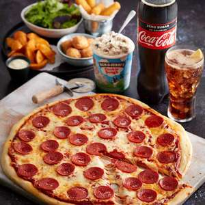 Slice of Pizza + Chips + Medium dispensed drink + Ben and Jerry's 100ml Tub £1.50 / Fish & Chips £2.38 / Express Breakfast £1.50 @ Asda Cafe