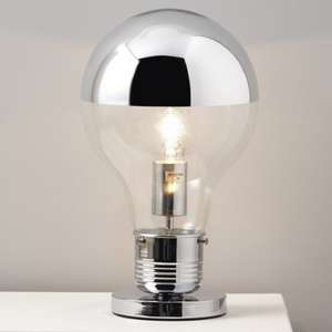 Colours Idea Matt Chrome effect Incandescent Table lamp for £15 @ B&Q (free click and collect)