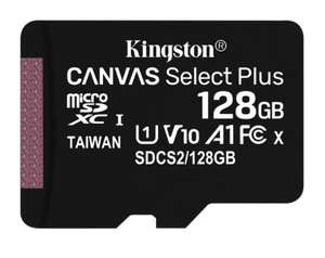 Kingston Canvas Select Plus 128GB microSDXC A1,Class 10, UHS-I, speeds up to 100 MB/s + Adapter for £11.99 @ Base (Other variants in OP)