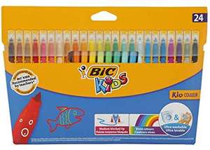 BIC Kids Kid Couleur Felt Tip Colouring Pens - Pack of 24 - £2.50 Delivered (+ £4.49 NP) @ Amazon