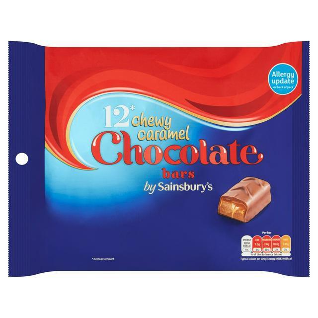 Sainsbury's Chewy Caramel Chocolate Bars 12x18.4g 87p instore at Sainsbury's Fulham Wharf