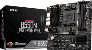 MSI AMD B550M PRO-VDH WIFI Micro-ATX Motherboard £121.49 delivered from Scan