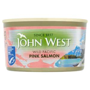 John West Wild Pink Salmon 213g - 2 for £4 or £3.35 each @ Waitrose & Partners