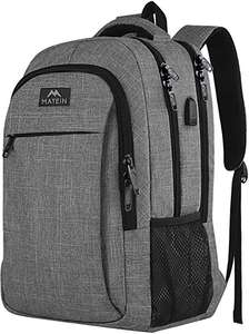 MATEIN Travel Laptop Backpack - £19.99 Prime / +£4.49 non Prime Sold by Madalak-EU and Fulfilled by Amazon