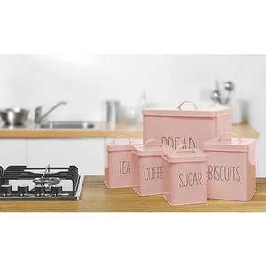 Pink Kitchen Storage Set Pack of 5 - £10 + free Click and Collect @ George/Asda