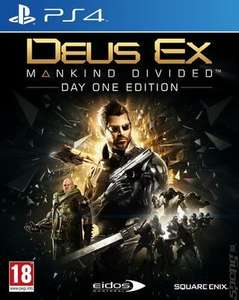 Deus Ex: Mankind Divided (PS4) - pre-owned £3.05 with code delivered @ MusicMagpie