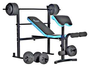 Men's Health Folding Bench & Preacher with 50kg - £129.99 + free Click and Collect @ Argos