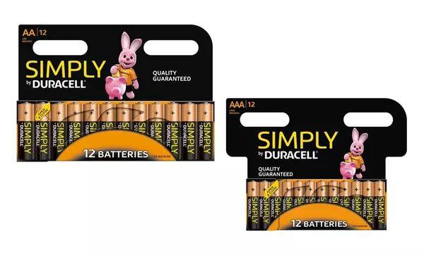 48 AA + 24 AAA duracel batteries £30.98 @ Groupon