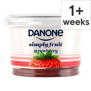 Tesco Groceries Online: Free Danone Simply Fruit Strawberry yoghurt / yogurt 450G (Min Basket Value Applies)