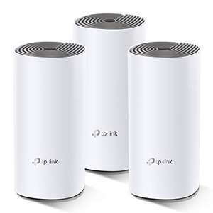 TP-Link Deco E4 Whole Home Mesh Wi-Fi System, Seamless and Speedy (AC1200)(Pack of 3) Work with Amazon Echo/Alexa- £89.99 delivered @ Amazon