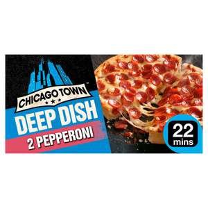 Chicago Town 2 Deep Dish Pizzas (Four Cheese / Pepperoni / Mega Meaty / Ham & Pineapple / Chicken Club) £1 @ Iceland