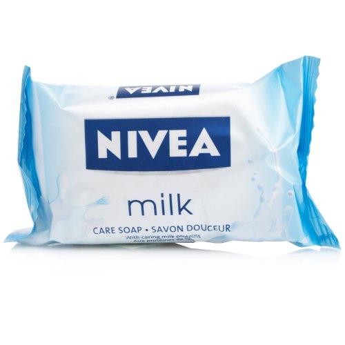 Nivea 90g Milk Care Soap - 59p delivered with prime (+£4.49 non prime) @ Amazon