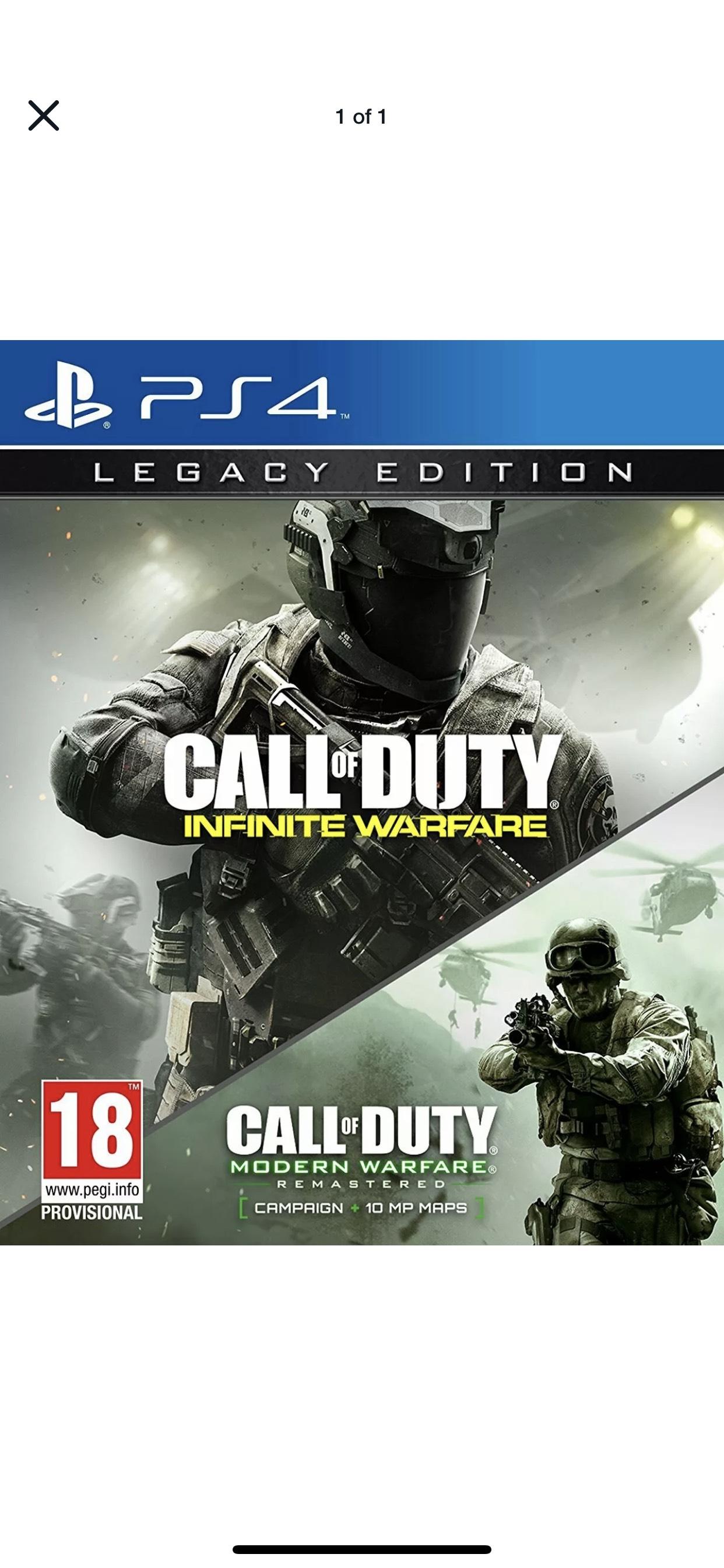 Call of Duty Infinite Warfare - Legacy Edition | PlayStation 4 PS4 New - £7.99 @ eBay / itemdr