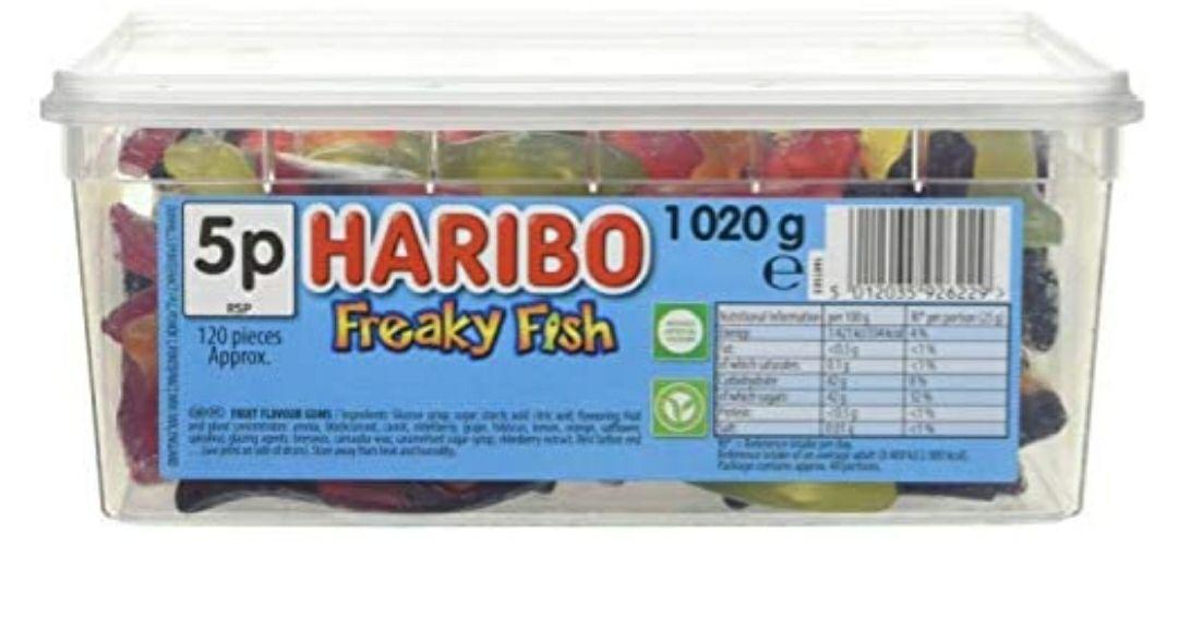 Haribo Freaky Fish Tub - £4.47 (+£4.49 non-Prime) @ Amazon