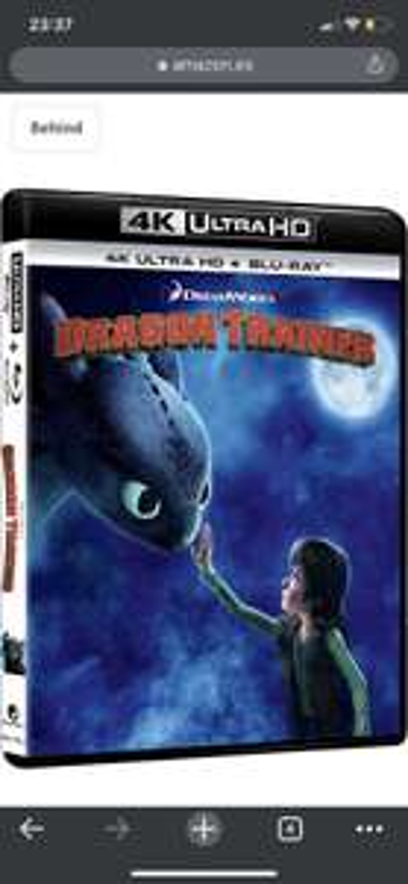 "How to train your dragon 1 4k blu ray + blu-ray Italian version ""English audio"" at Amazon £11.92"