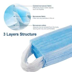 50 Disposable Face Coverings delivered NOW £4.95 @ eBay / mmalek89