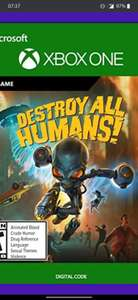 Destroy all humans on Xbox one (Argentina store) at Eneba for £15.66