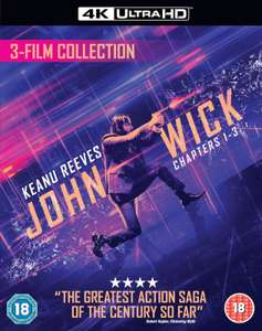 John Wick Triple Boxset - 4K Ultra HD £32.55 with code @ Zavvi