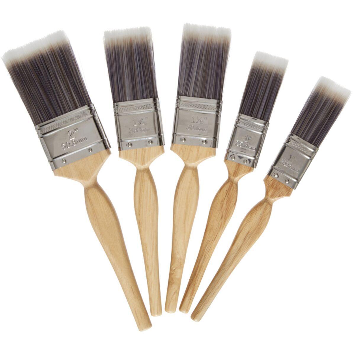 Harris Platinum 5-Piece Paintbrush Set £4.99 (Free Click & Collect) @ Robert Dyas