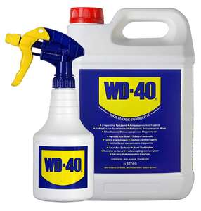 WD-40 Multi-Purpose Metal Lubricant 5L & Spray Bottle - 44506 - £22.30 delivered (with code) @ CPC Farnell