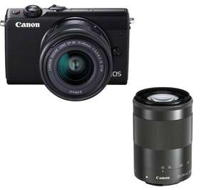 CANON EOS M100 24.2MP Camera + EF-M 15-45 mm f/3.5-6.3 IS + 55-200 mm £399 @ Currys click and collect only