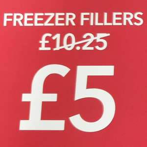 Coop Freezer fillers all 5 for £5