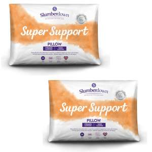 Slumberdown Super Support Pillows Pack of 2 (Firm Support) Buy 1 Get 1 free - 4 Pillows in total for £16.99 delivered @ Sleepseeker