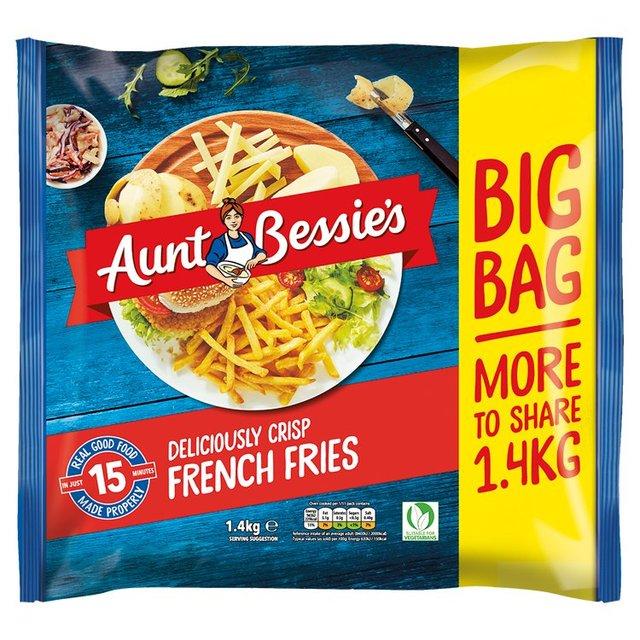 Aunt Bessie's French Fries Frozen 1.4kg £1.40 / Aunt Bessie's Homestyle Chips Frozen 900g £1 @ Ocado